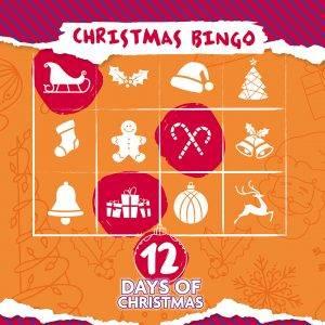 christmas bingo board