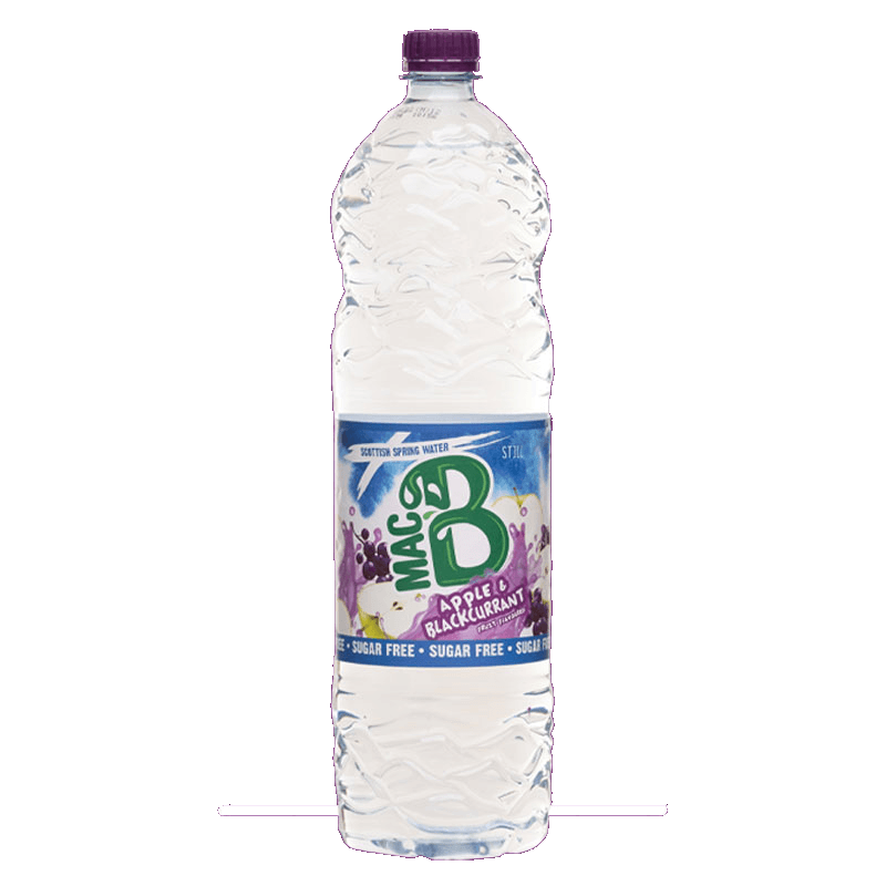 Macb 1.5l bottle of Blackcurrent and Apple flavoured spring water