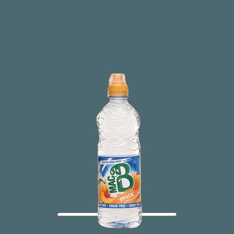 500ml Peach flavoured Macb spring water