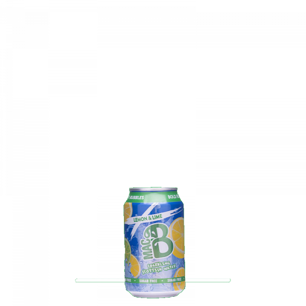 A can of Macb sparkling spring water lemon & lime flavour